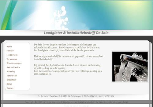 Website bouwen van Installatiebedrijf De Sain