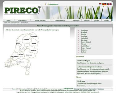 Website bouwen van Pireco
