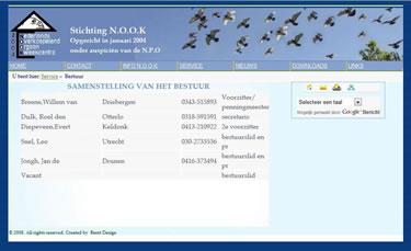 Website bouwer Stichting NOOK
