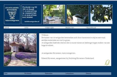 Website bouwer Avantgarden Hoveniers