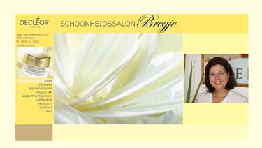 Website bouwer Schoonheidssalon Bregje