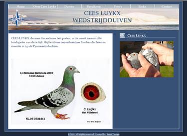 Website bouwer Wedstrijdduiven Luykx