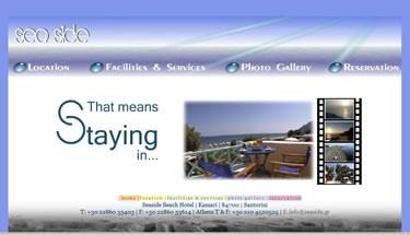 Website bouwer Santorini, hotel en apartement